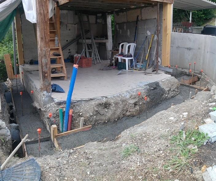 Mazot fondations coulées